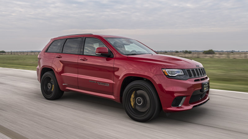2019 Hennessy Jeep Grand Cherokee Trackhawk Hpe1000 Driving Review