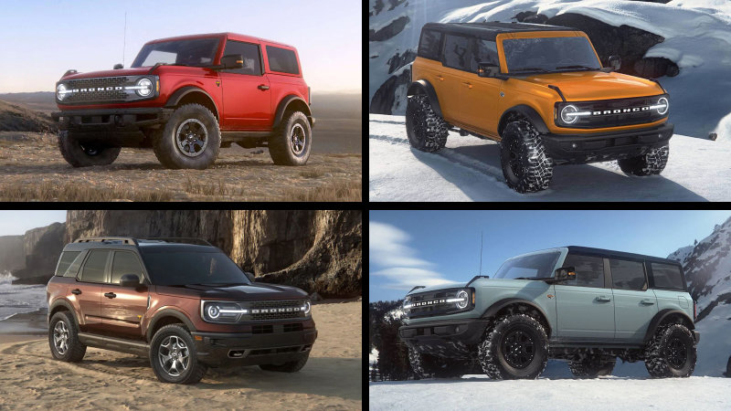 2021 Ford Bronco Bronco Sport Offers These 10 Colors Technology